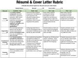 Student Resume Rubric Simulation Tech Center