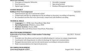 Student Resume Undergraduate Sample Student Resume 7 Documents In Pdf Word