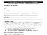Student Resume Worksheet 10 High School Student Resume Templates Pdf Doc Free