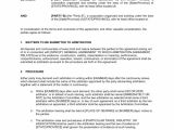 Submissive Contract Template Arbitration Agreement Template Word Pdf by Business