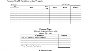 Subsidiary Ledger Template Accounts Receivable Subsidiary Ledger Template Templates