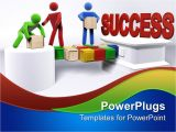 Success Powerpoint Templates Free Download Powerpoint Template Three 3d Figures Working In Team to
