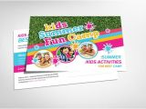 Summer Camp Business Plan Template Kids Summer Camp Postcard Template Card Templates On