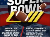 Super Bowl Party Flyer Template Customize 980 Football Poster Templates Postermywall