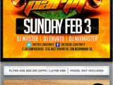 Super Bowl Party Flyer Template Superbowl Party Flyer Template by Industrykidz Graphicriver