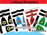 Superhero Lollipop Cape Template Superhero Lollipops Ironman Cape Mask Instant Download