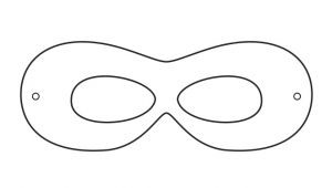 Superhero Mask Template for Kids Superhero Printables