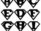 Superman Alphabet Template 7 Best Images Of Printable Superman Logo Alphabet