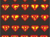 Superman Alphabet Template Personalized Superman Logo Superman Logo Customizable T