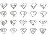 Superman Alphabet Template Printable Superman Logo Letter Cricut Pinterest