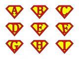 Superman Alphabet Template Super Alphabet Letters Illustrations On Creative Market