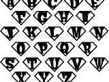Superman Alphabet Template Superhero Initial Shield Vinyl Wall Decals