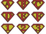 Superman Alphabet Template Superman Letter Template Pictures to Pin On Pinterest