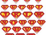 Superman Alphabet Template Superman Logo with Different Letters Superman and Wonder