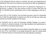 Supermarket Bag Packing Letter Template Answer Complaint Letter Sample Complaint Letter Writting