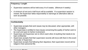 Supervision Contract Template Supervision Contract Template In Word and Pdf formats