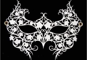 Swan Mask Template New White Laser Cut Leather Lace Masquerade Mask by