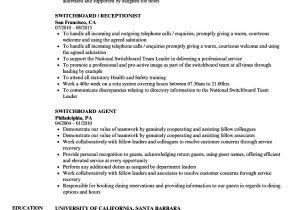Switchboard Operator Resume Sample Switchboard Resume Samples Velvet Jobs