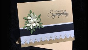Sympathy Messages On Flower Card Sympathy Card Bereavement Card 3d Sympathy Cards Handmade