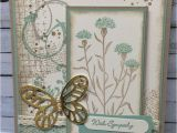 Sympathy Quotes for Flower Card Stampin Friends May Hop Sympathy Thinking Of You with