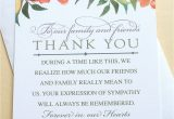 Sympathy Thank You Card Messages Thank You Sympathy Cards with Colorful Flowers