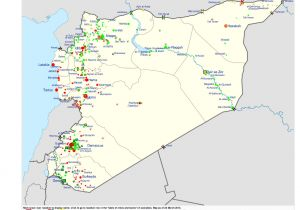 Syria War Template Syria Template Map