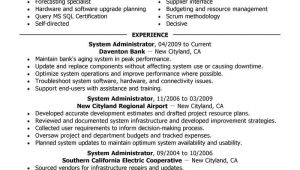 System Administrator Resume Sample Best Legacy Systems Administrator Resume Example Livecareer