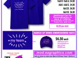 T Shirt Fundraiser Flyer Template March for Babies Teams