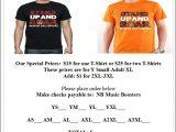 T Shirt Fundraiser Flyer Template Nb Stand Up Roar T Shirt Fundraiser thenbxpress Com