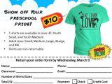 T Shirt Fundraiser Flyer Template T Shirt Sale Rodef Shalom Family Center Preschool
