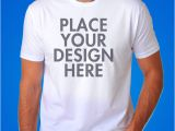 T Shirt Template with Model 50 Mockups E Templates Para Camisetas Clube Do Design