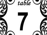 Table Numbers for Wedding Reception Templates Free Swirls Printable Diy Table Numbers Free Table Numbers