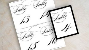 Table Numbers for Wedding Reception Templates Instant Download Pdf Digital Diy Table Number Template