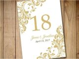 Table Numbers for Wedding Reception Templates Printable Wedding Table Number Template by Paintthedaydesigns