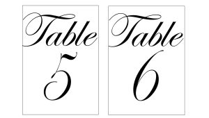 Table Numbers Template for Weddings Wedding Table Numbers Template Beepmunk