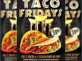 Taco Flyer Template Taco Fridays Premium Flyer Template Instagram Size