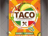 Taco Flyer Template Taco Tuesday Mexican Flyer Psd Template Psdmarket