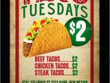 Taco Flyer Template Taco Tuesdays Flyer Template by Megakidgfx Graphicriver