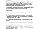 Talent Manager Contract Template 10 Artist Management Contract Templates Word Docs
