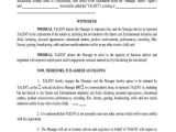 Talent Manager Contract Template Sample Agency Contract forms 8 Free Documents In Word Pdf