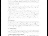 Talent Manager Contract Template Talent Agreement Talent Contract Template with Sample