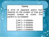 Tanka Poem Template Types and Elements Of Poetry