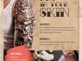 Tattoo Flyer Template Free 20 Tattoo Flyer Designs Psd Jpg Ai Illustrator Download
