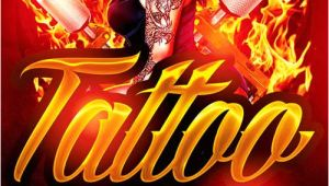 Tattoo Party Flyer Template Free Tattoo Party Flyer Template Psd Download now Xtremeflyers