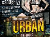 Tattoo Party Flyer Template Free Urban Tattoo Flyer Template On Behance