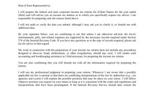 Tax Engagement Letter Template Corporate Tax Preparation Engagement Letter In Word and