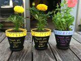 Teacher Appreciation Gift Card Flower Pot Hand Painted Flower Pots for End Of the Year Teacher Gifts