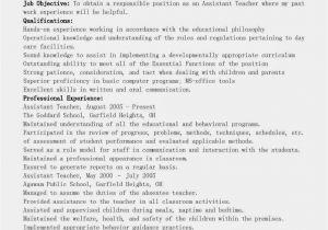 Teacher assistant Resume Sample Resume Samples assistant Teacher Resume Sample