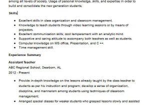 Teacher assistant Resume Sample Teacher assistant Resume Sample