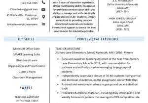 Teacher assistant Resume Sample Teacher assistant Resume Sample Writing Tips Resume Genius